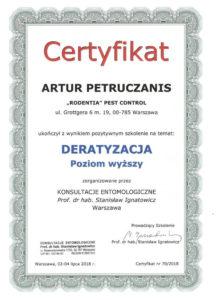 certyfikat deratyzacja AP pw